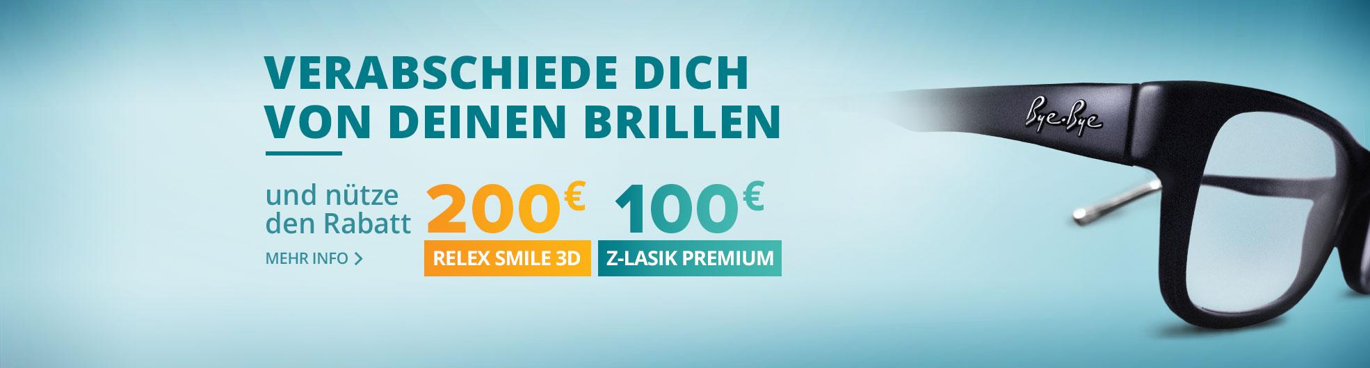 Frühlingsrabatt für ReLex SMILE 3D und Z-LASIK