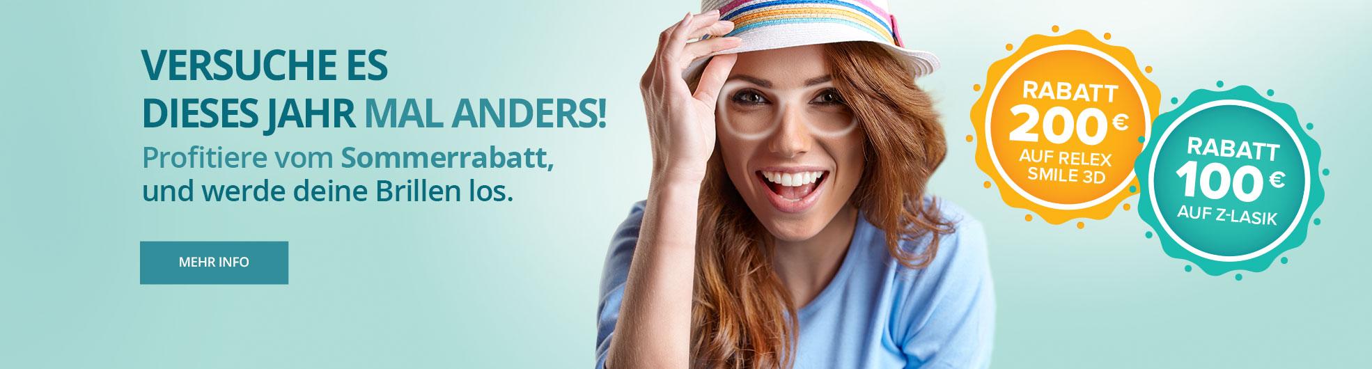 Sommersrabatt für ReLex SMILE 3D und Z-LASIK